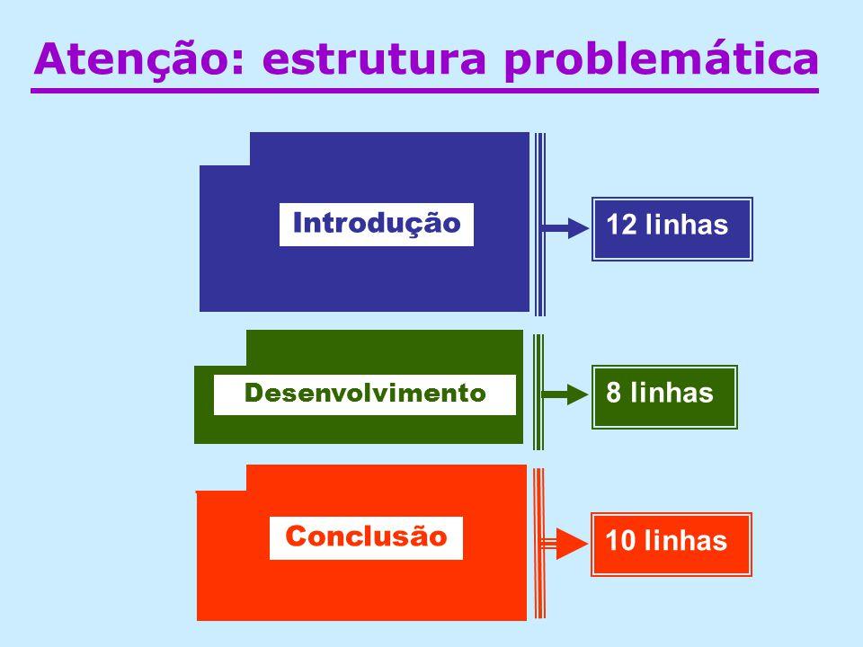 Atenção: estrutura problemática