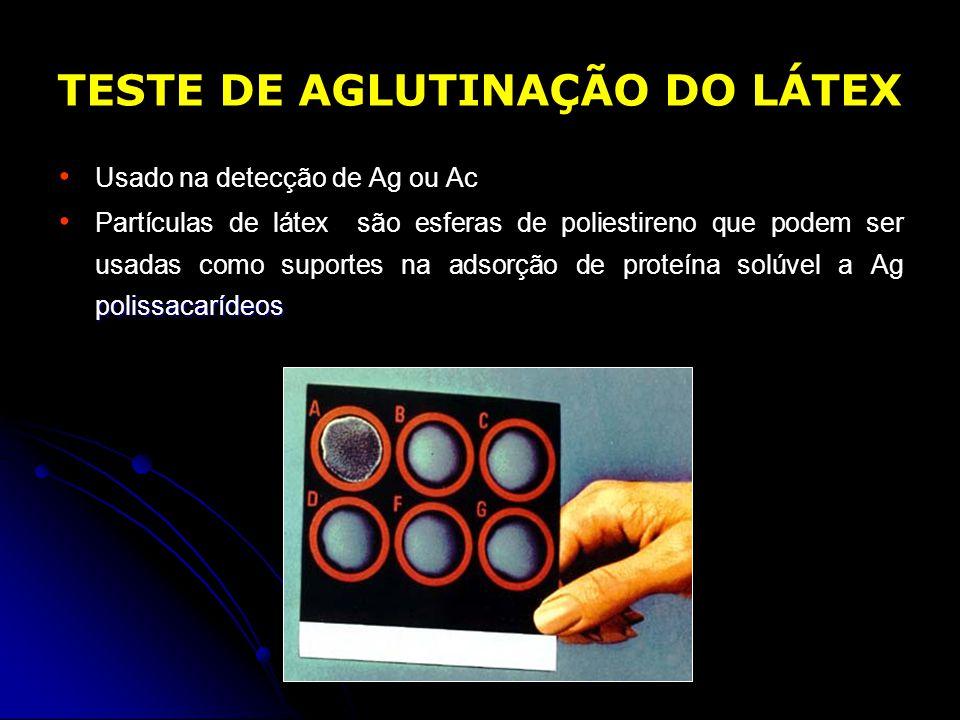 TESTE DE AGLUTINAÇÃO DO LÁTEX