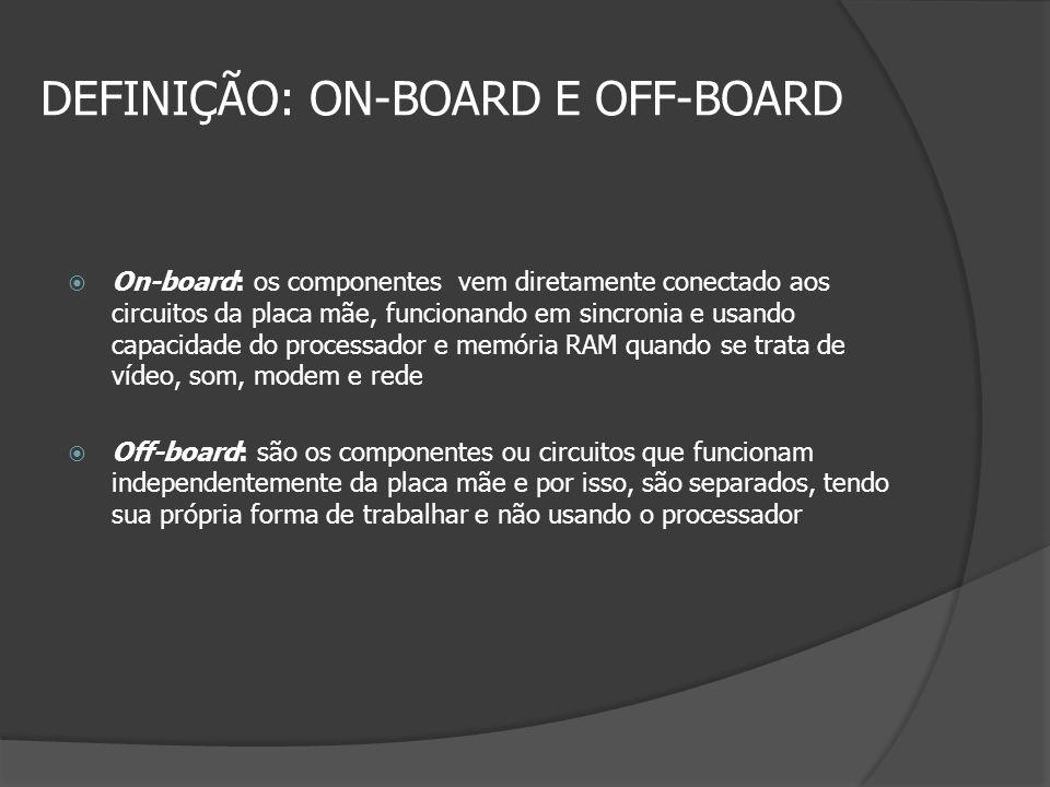 DEFINIÇÃO: ON-BOARD E OFF-BOARD