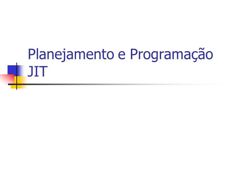 Planejamento e Programação JIT