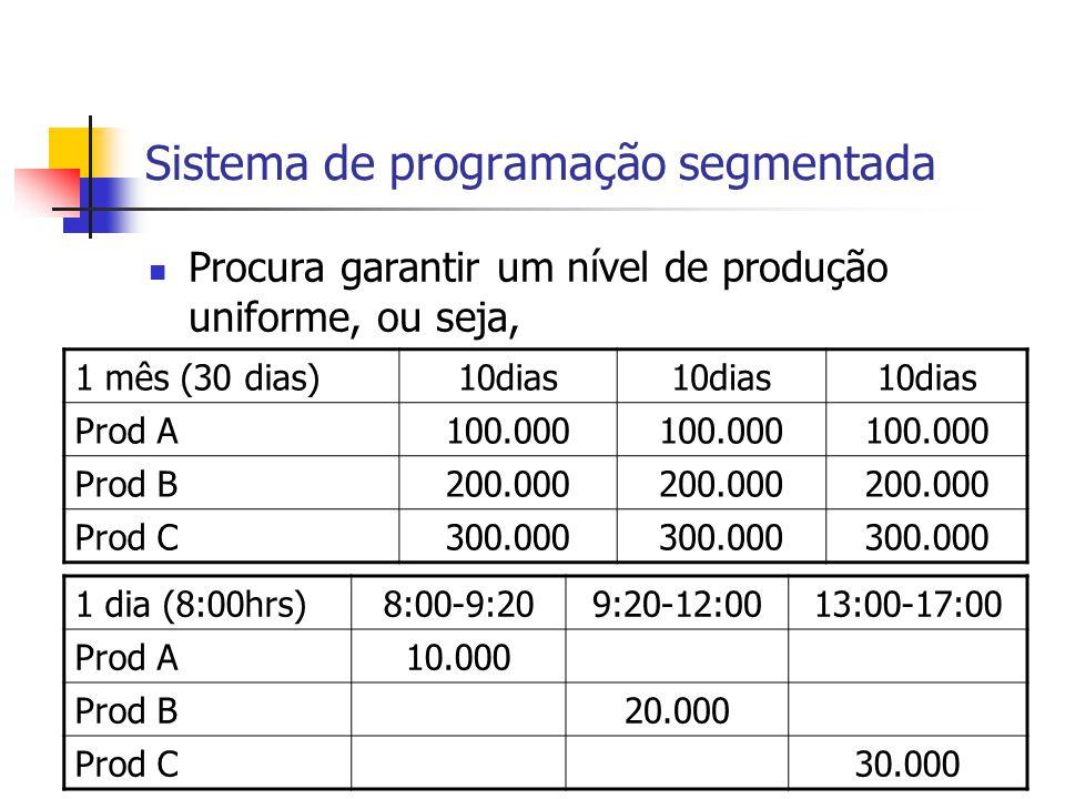 Sistema de programação segmentada