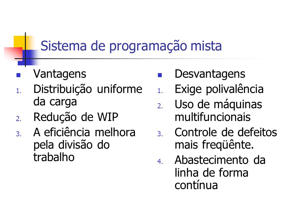 Sistema de programação mista