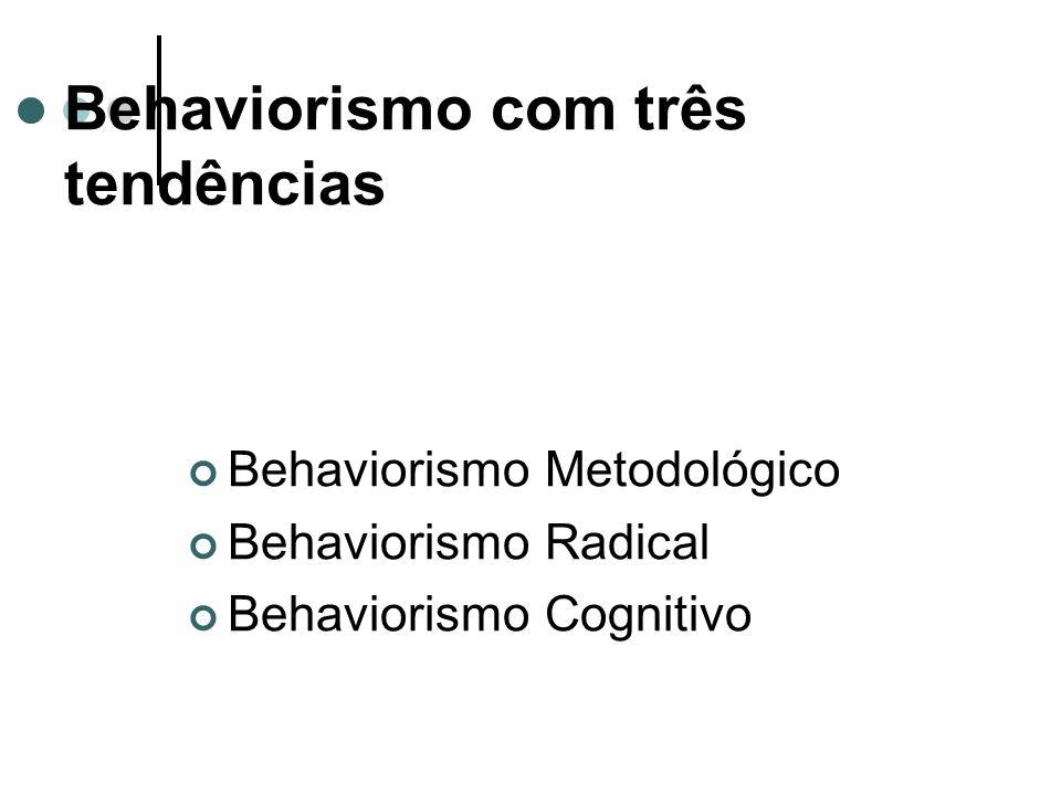 Behaviorismo com três tendências