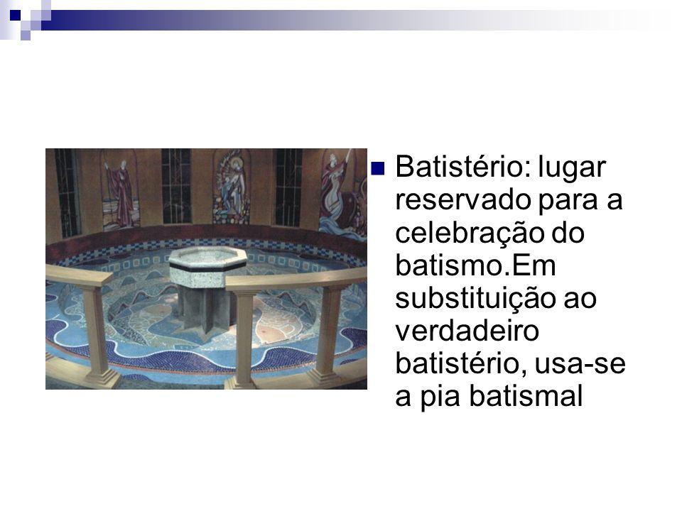 Batistério: lugar reservado para a celebração do batismo