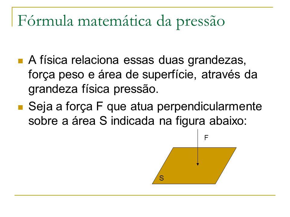 Fórmula matemática da pressão