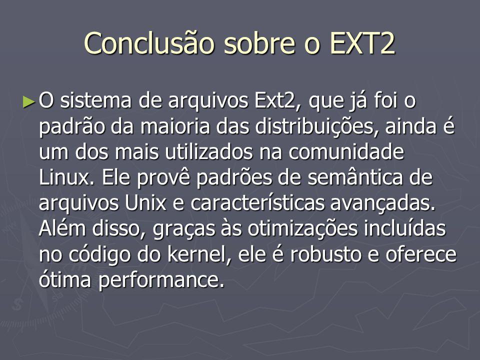 Conclusão sobre o EXT2