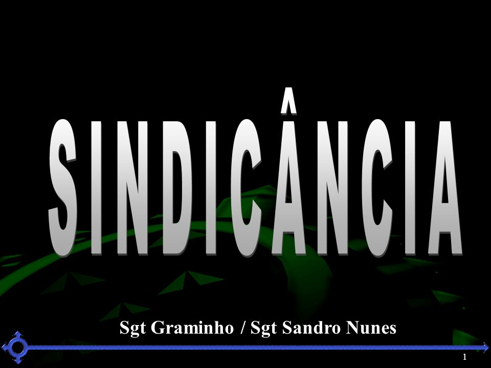 SINDICÂNCIA Sgt Graminho / Sgt Sandro Nunes 1 1 1