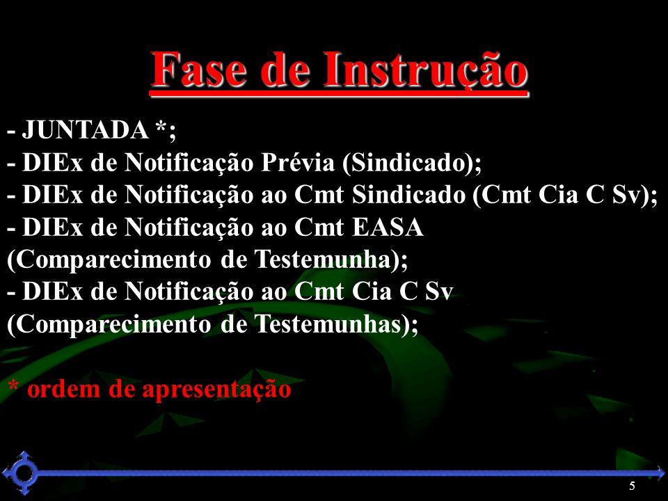 Fase de Instrução - JUNTADA *;