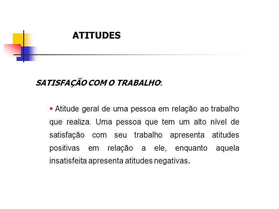 ATITUDES SATISFAÇÃO COM O TRABALHO: