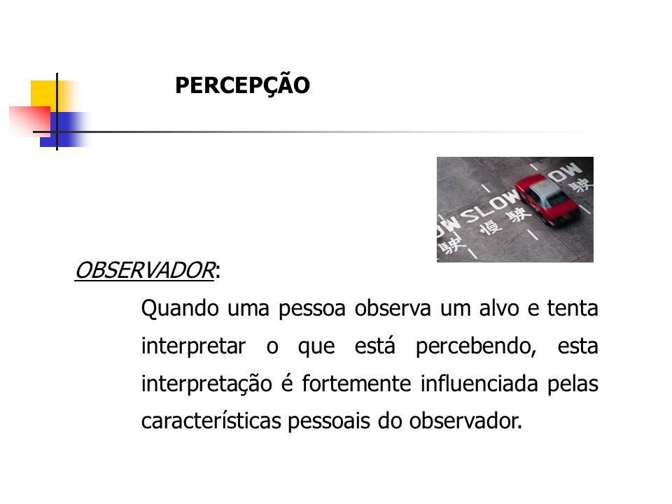 PERCEPÇÃO OBSERVADOR: