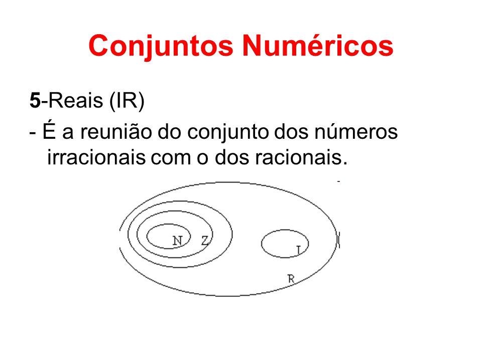 Conjuntos Numéricos 5-Reais (IR)