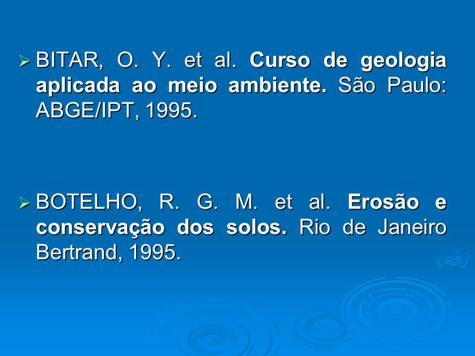BITAR, O. Y. et al. Curso de geologia aplicada ao meio ambiente