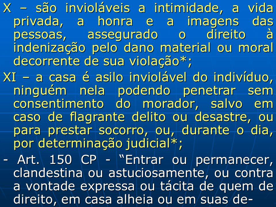 X – são invioláveis a intimidade, a vida privada, a honra e a imagens das pessoas, assegurado o direito à indenização pelo dano material ou moral decorrente de sua violação*;