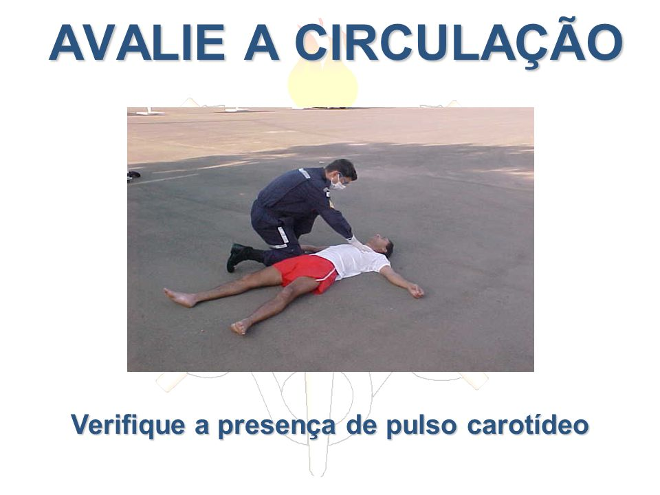 Verifique a presença de pulso carotídeo