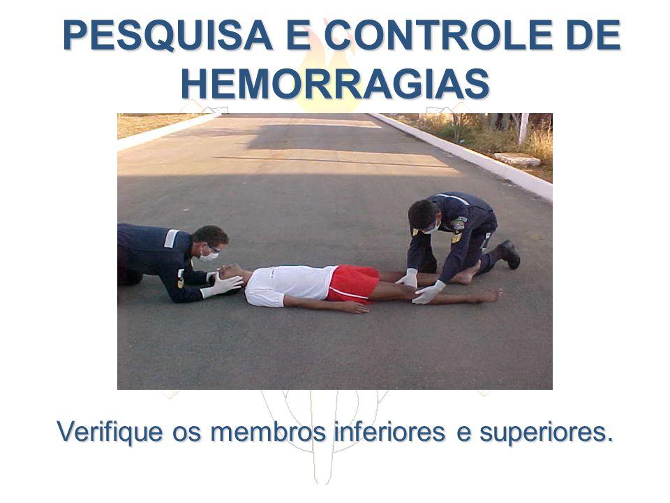 PESQUISA E CONTROLE DE HEMORRAGIAS