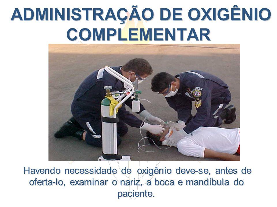 ADMINISTRAÇÃO DE OXIGÊNIO COMPLEMENTAR