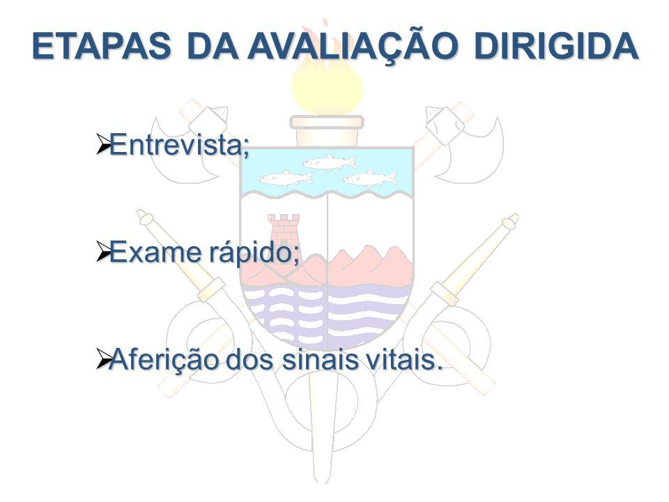 ETAPAS DA AVALIAÇÃO DIRIGIDA