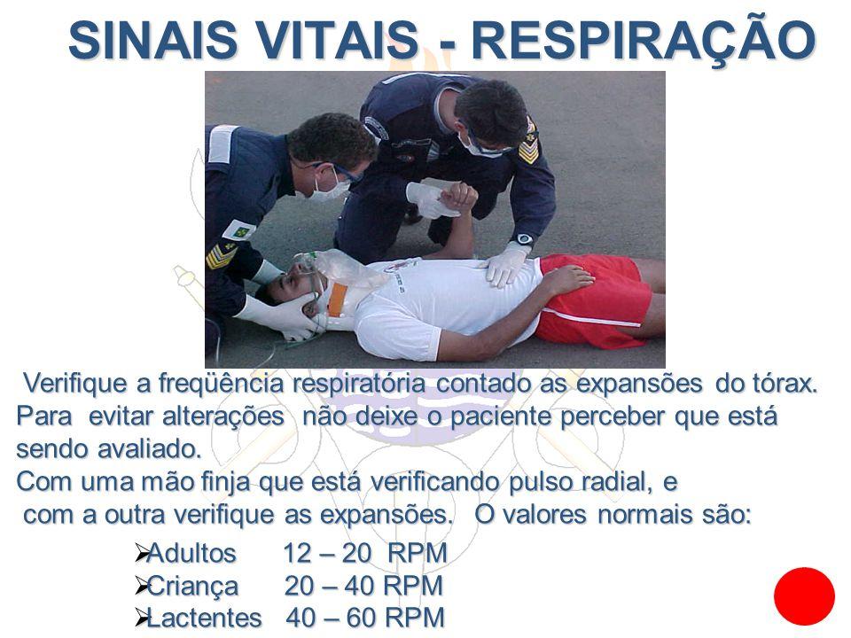 SINAIS VITAIS - RESPIRAÇÃO