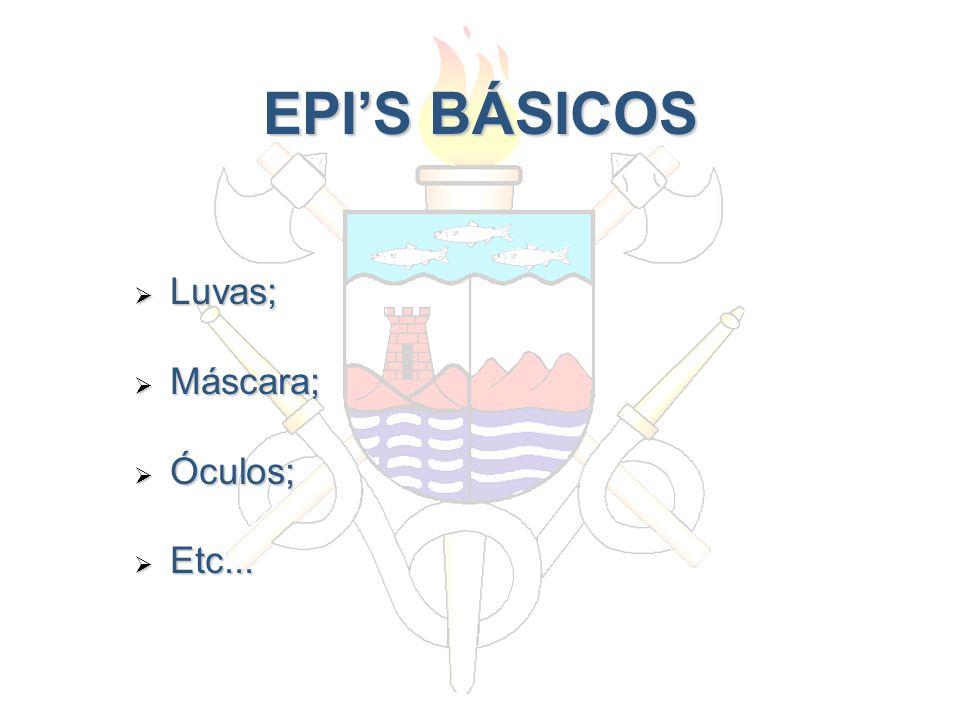 EPI'S BÁSICOS Luvas; Máscara; Óculos; Etc...