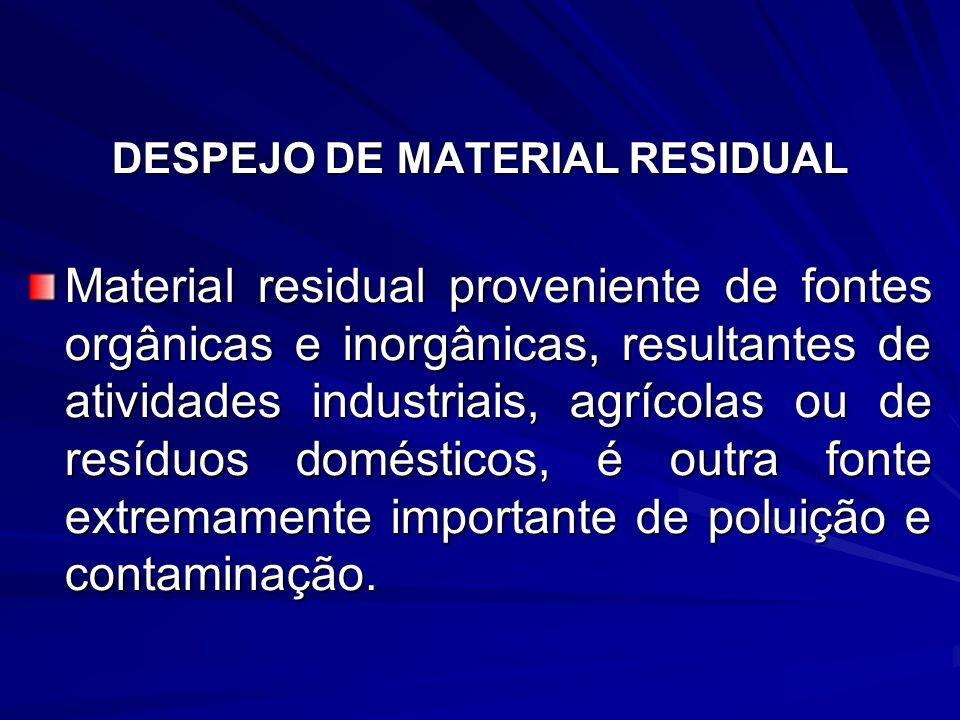 DESPEJO DE MATERIAL RESIDUAL