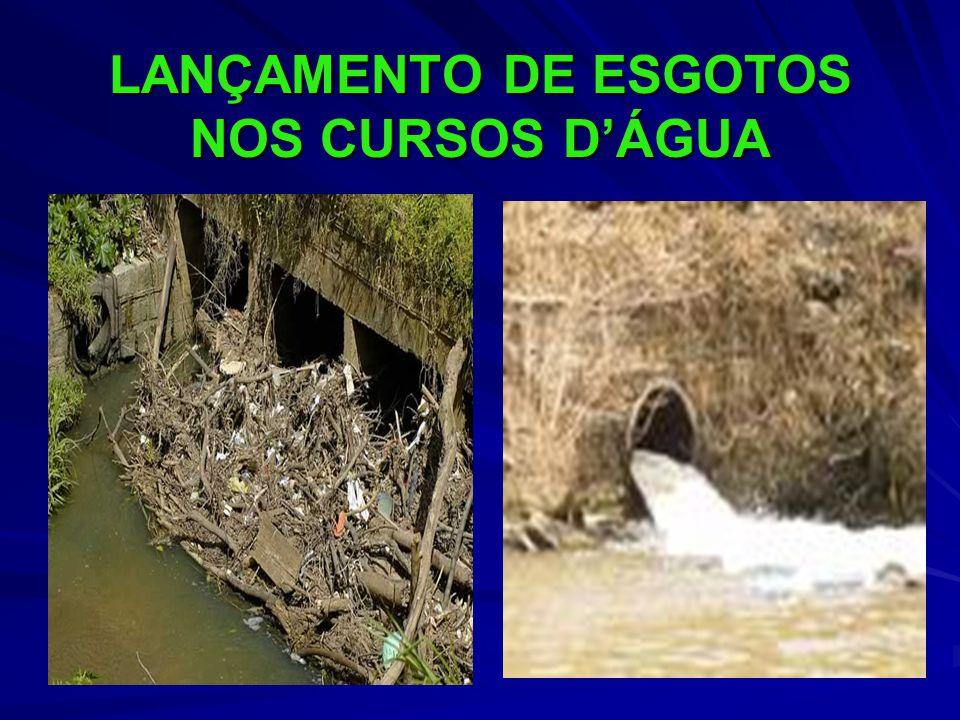 LANÇAMENTO DE ESGOTOS NOS CURSOS D'ÁGUA