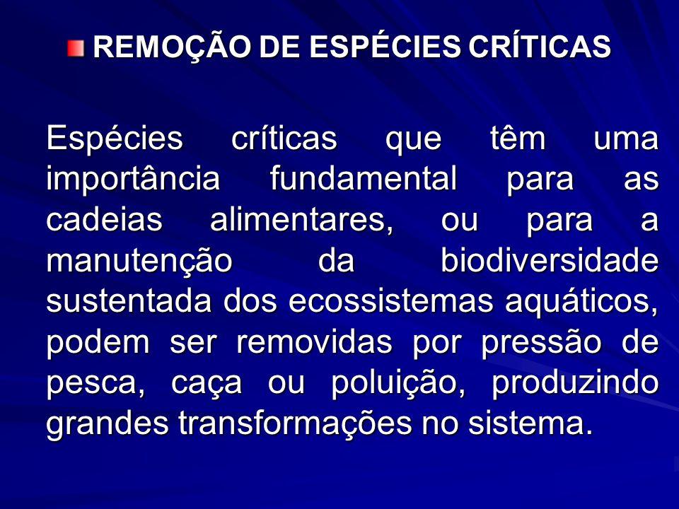REMOÇÃO DE ESPÉCIES CRÍTICAS