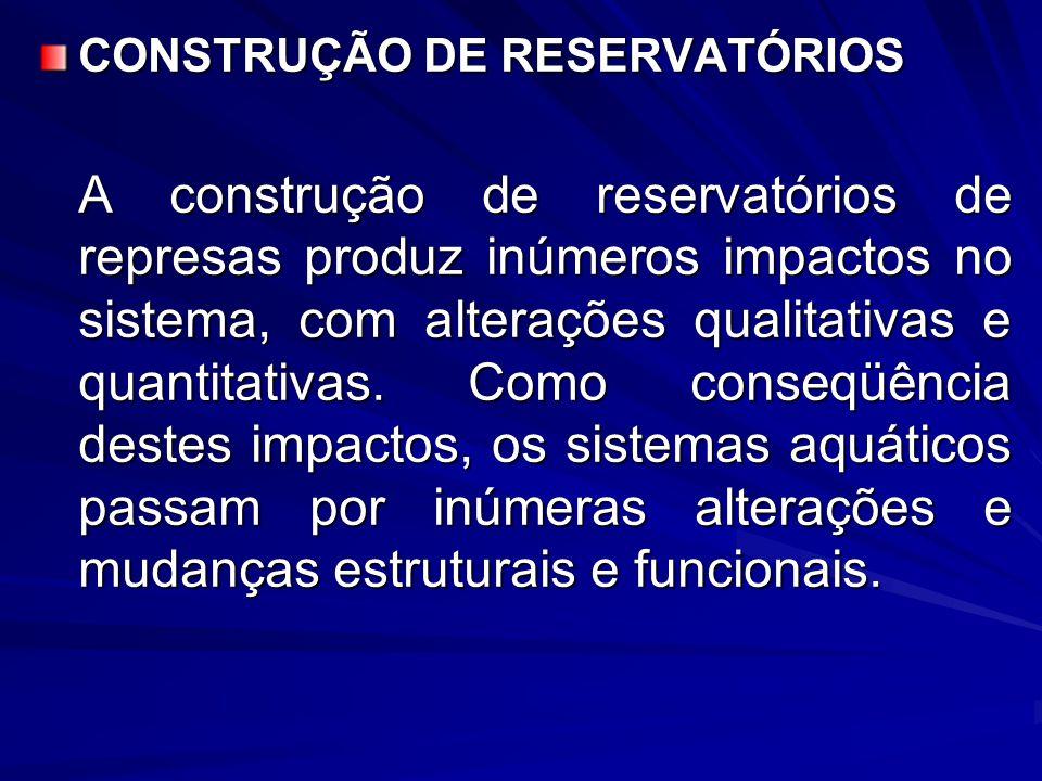 CONSTRUÇÃO DE RESERVATÓRIOS