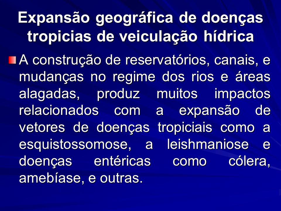 Expansão geográfica de doenças tropicias de veiculação hídrica