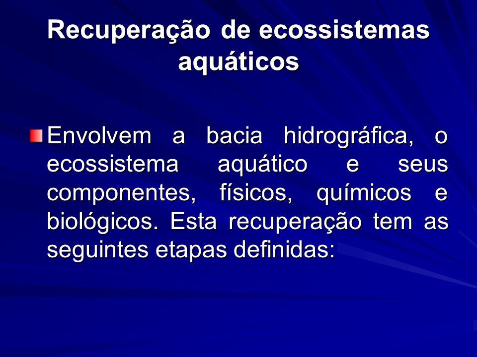 Recuperação de ecossistemas aquáticos