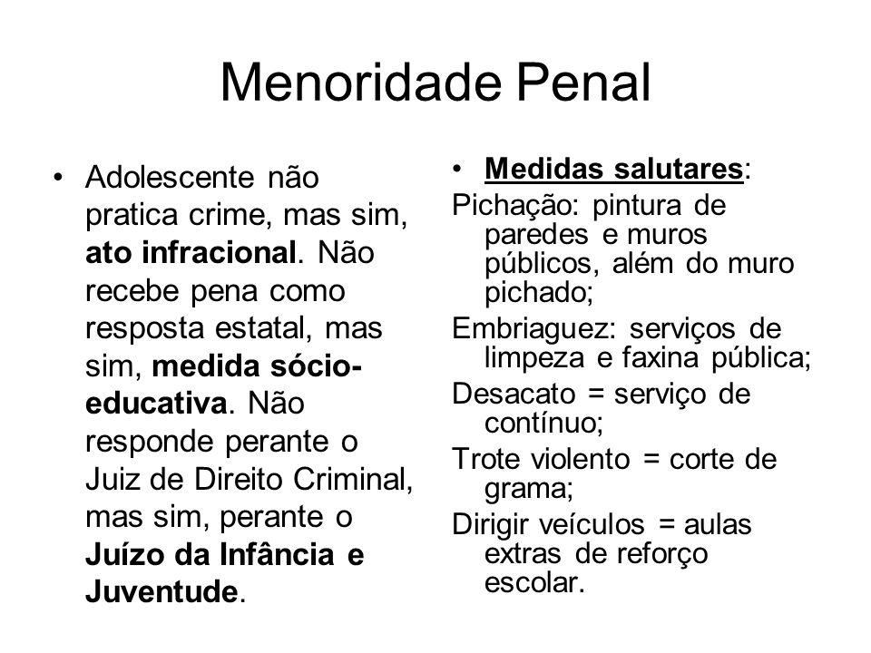 Menoridade Penal