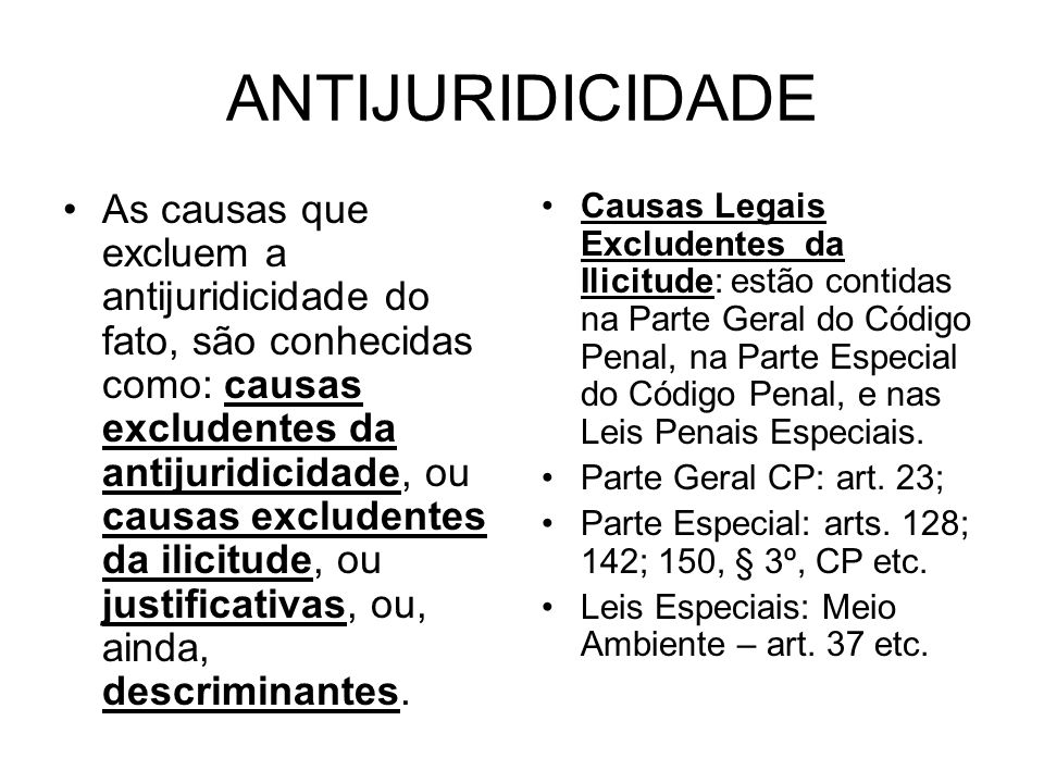 ANTIJURIDICIDADE