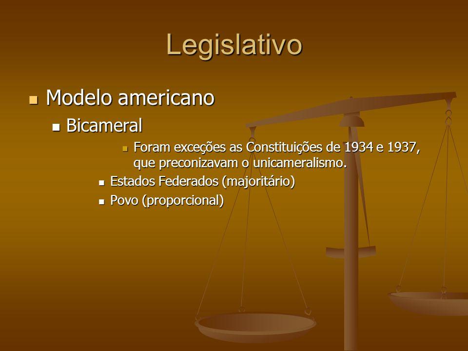 Legislativo Modelo americano Bicameral