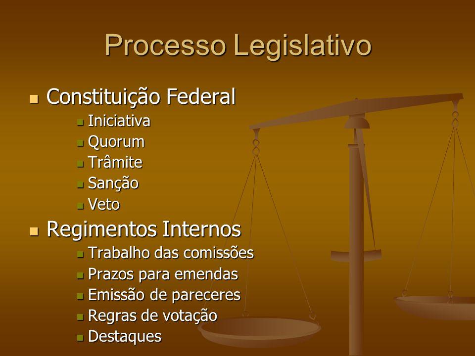 Processo Legislativo Constituição Federal Regimentos Internos