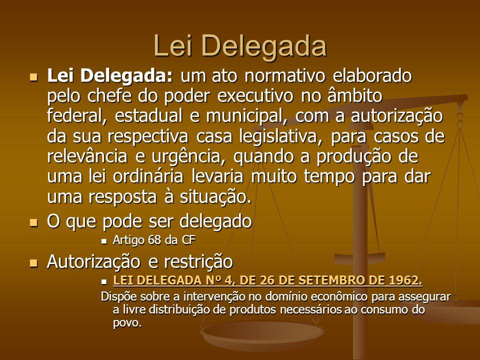 Lei Delegada