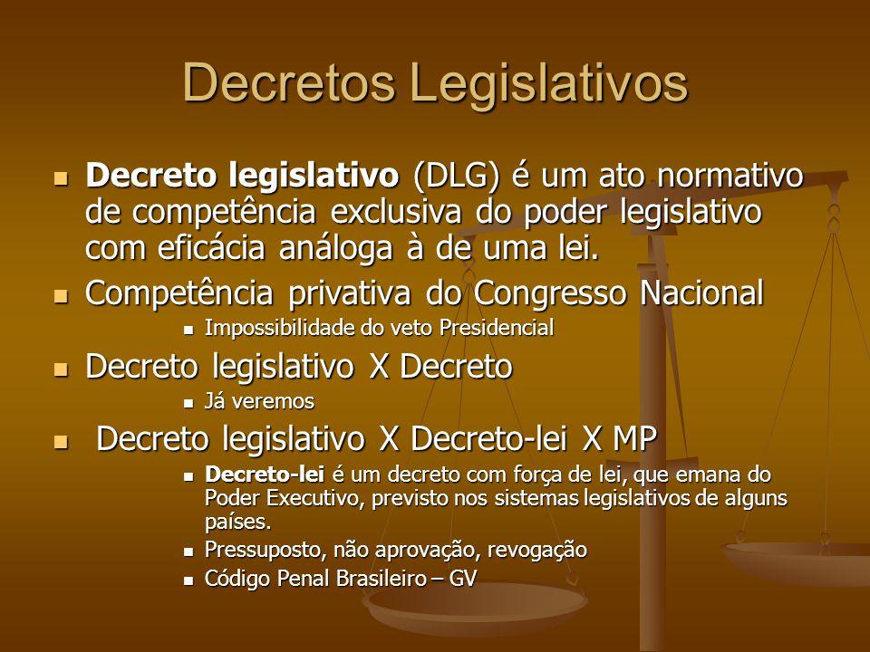 Decretos Legislativos
