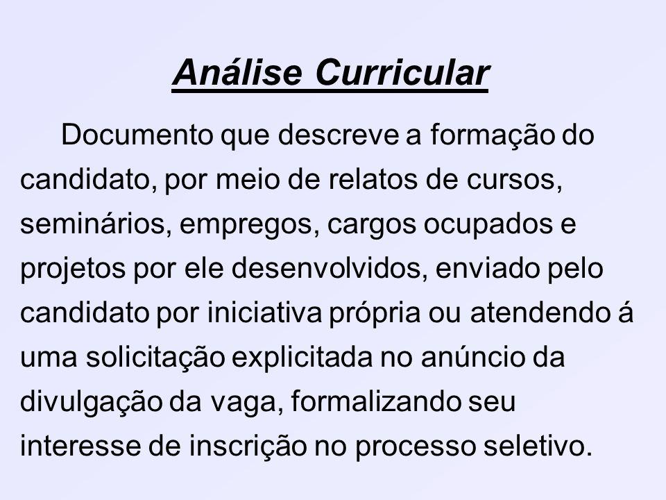 Análise Curricular