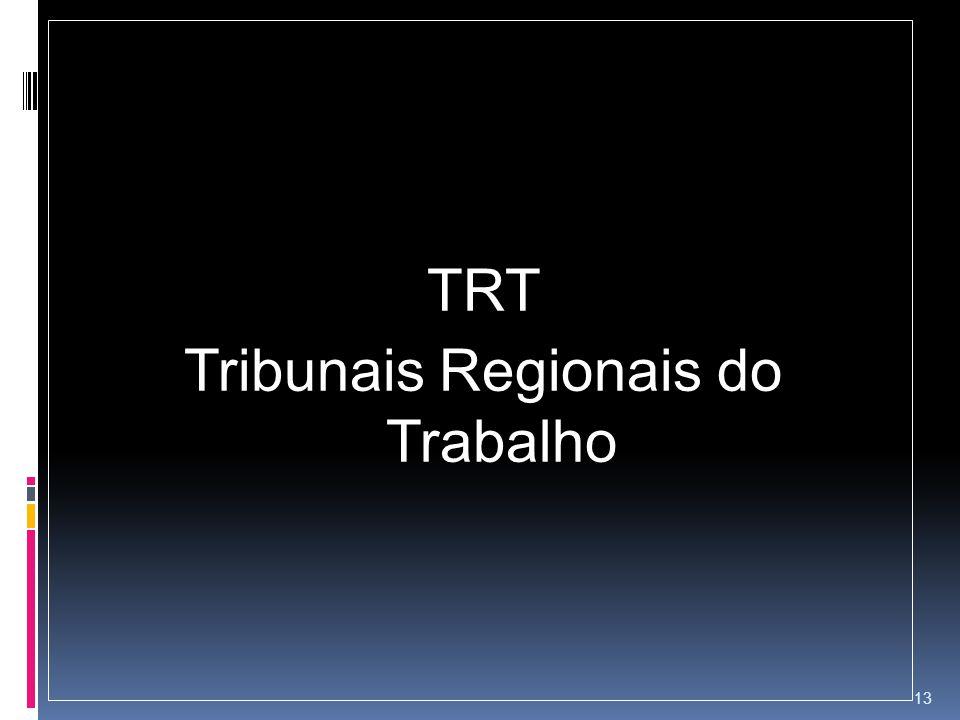 TRT Tribunais Regionais do Trabalho