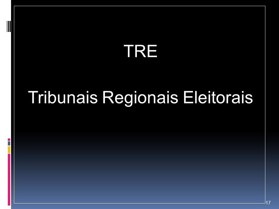 TRE Tribunais Regionais Eleitorais