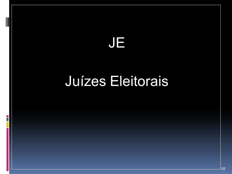JE Juízes Eleitorais