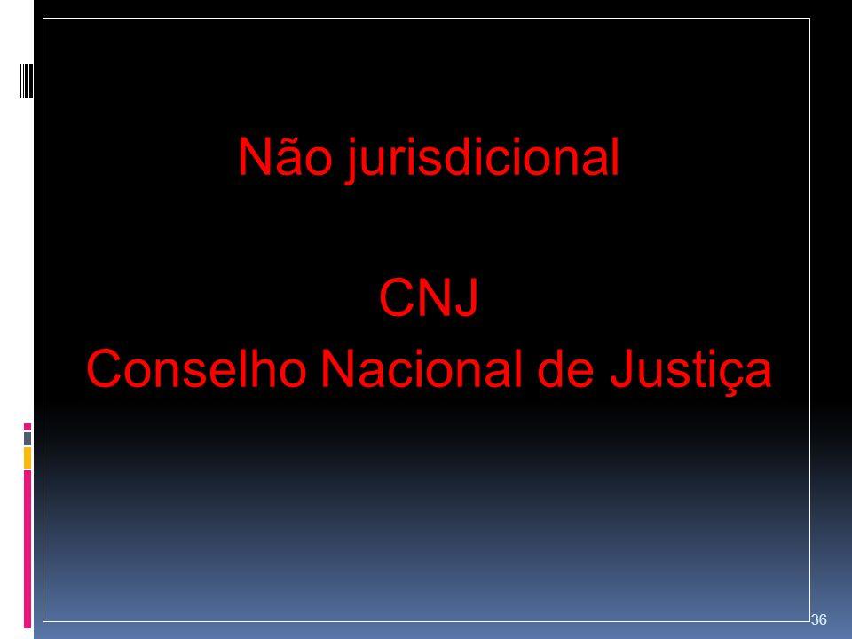 Não jurisdicional CNJ Conselho Nacional de Justiça