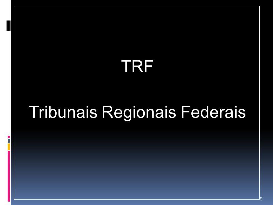 TRF Tribunais Regionais Federais