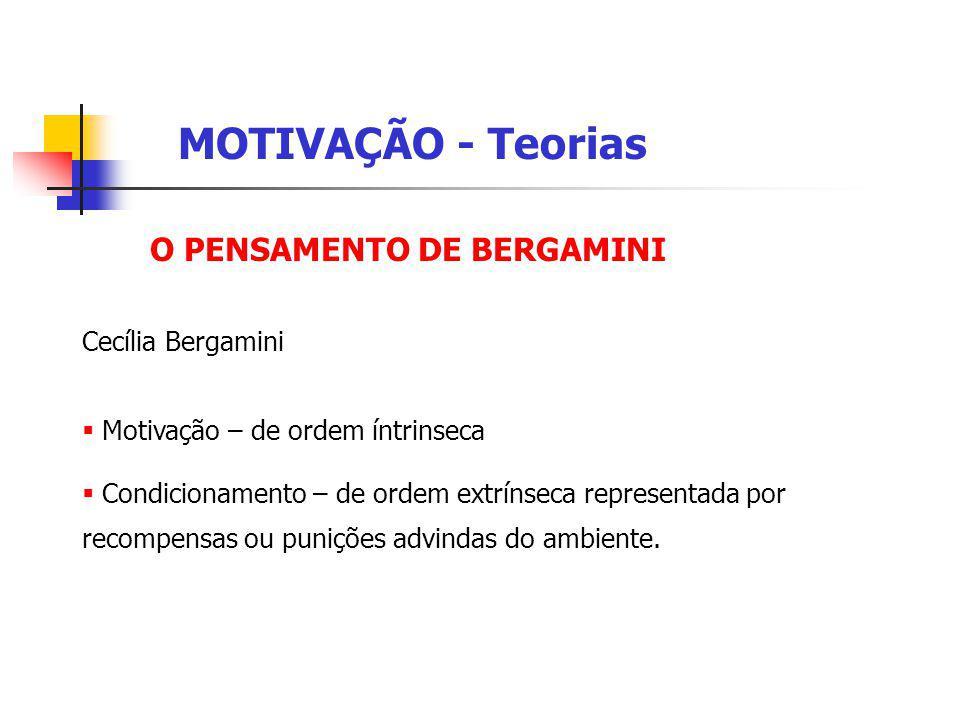 MOTIVAÇÃO - Teorias O PENSAMENTO DE BERGAMINI Cecília Bergamini