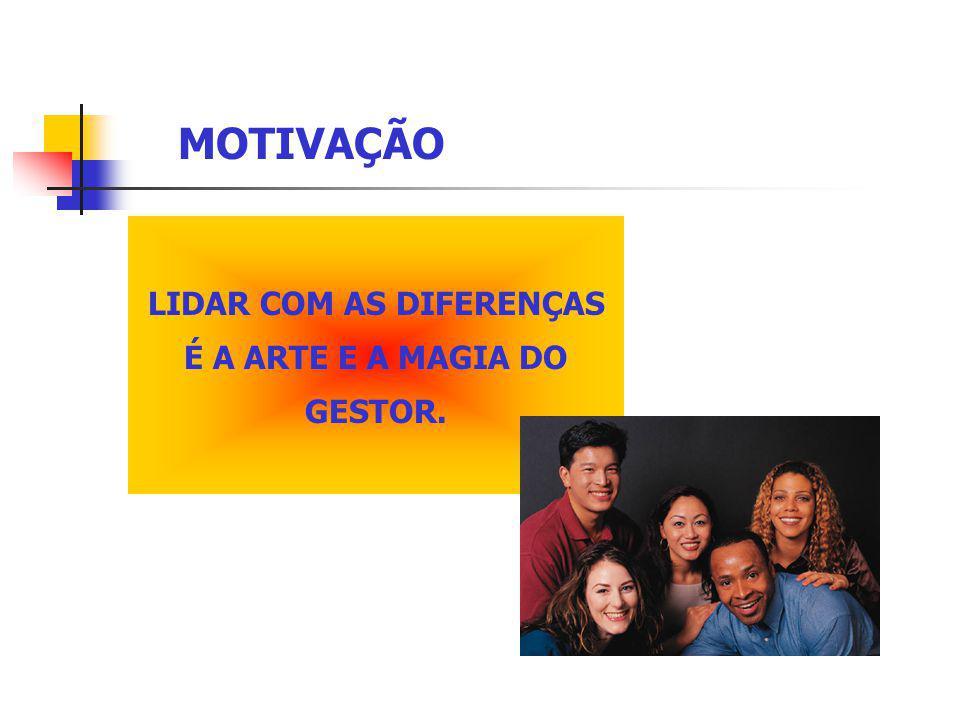 LIDAR COM AS DIFERENÇAS É A ARTE E A MAGIA DO GESTOR.
