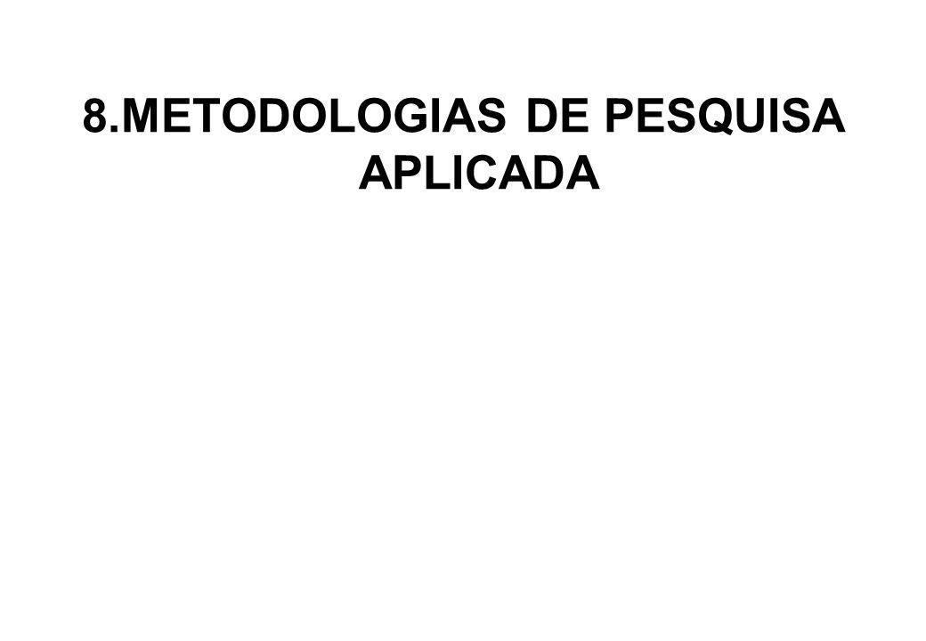 8.METODOLOGIAS DE PESQUISA APLICADA