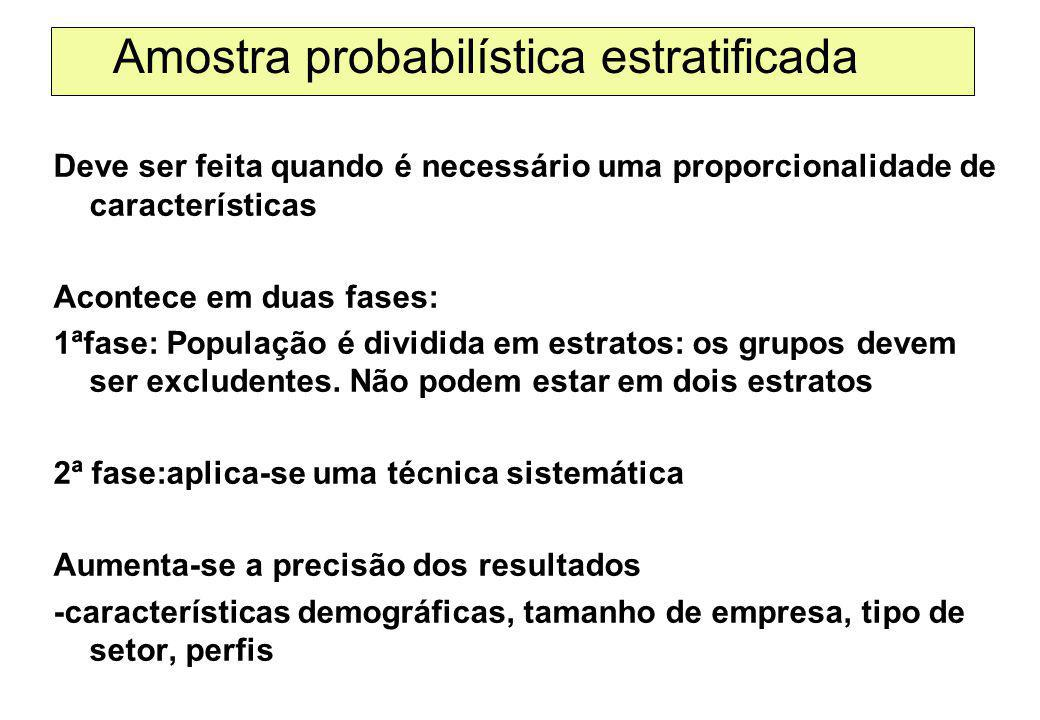 Amostra probabilística estratificada
