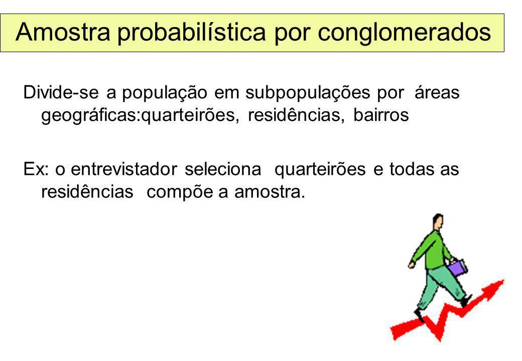 Amostra probabilística por conglomerados