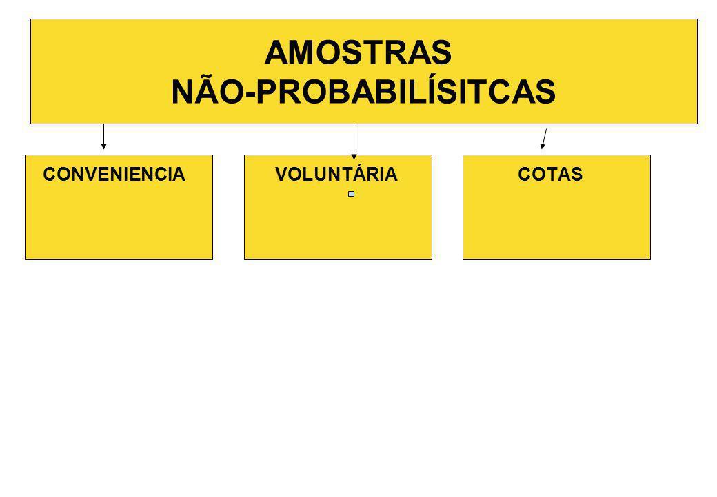 AMOSTRAS NÃO-PROBABILÍSITCAS