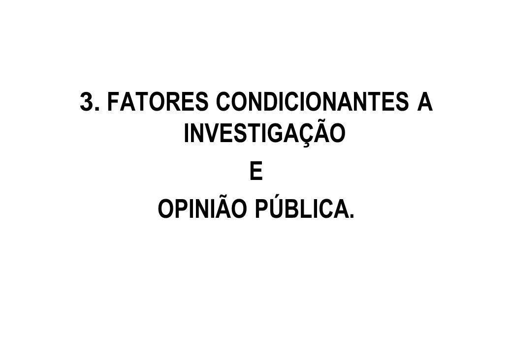 3. FATORES CONDICIONANTES A INVESTIGAÇÃO