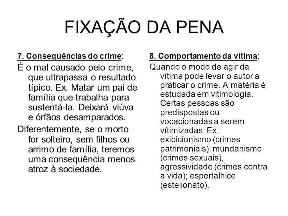 FIXAÇÃO DA PENA 7. Consequências do crime: