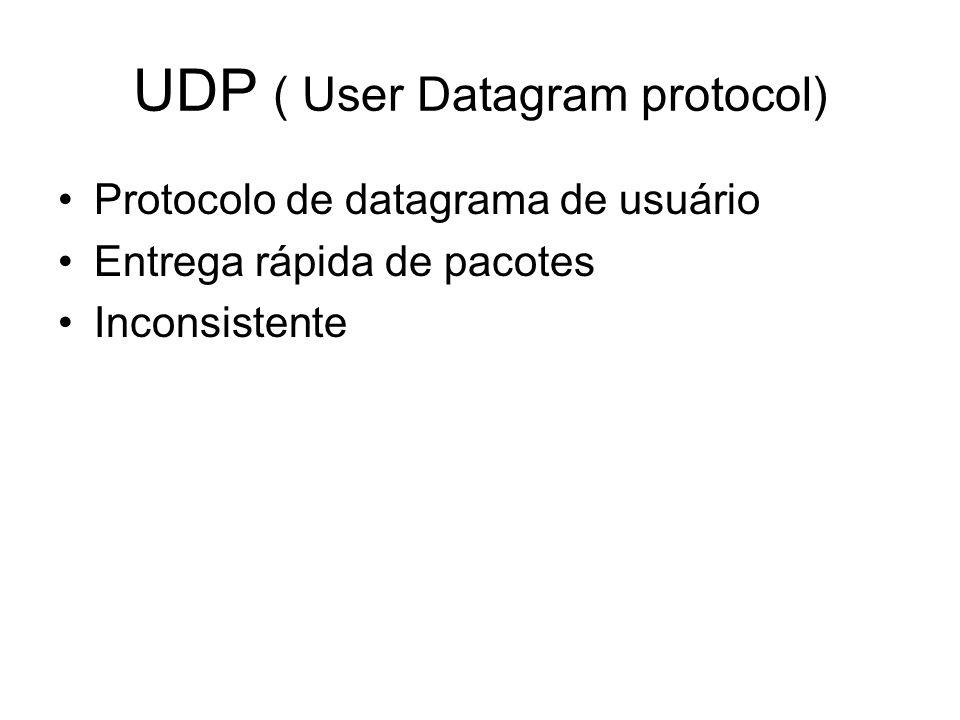 UDP ( User Datagram protocol)